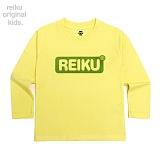 [레이쿠키즈] reiku kids round box long yellow 롱 긴팔티