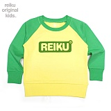 [레이쿠키즈] reiku kids round box two tone mtm gy 배색 맨투맨