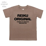[레이쿠키즈] reiku kids original typo short brown 반팔티