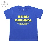 [레이쿠키즈] reiku kids original typo short blue 반팔티