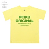 [레이쿠키즈] reiku kids original typo short yellow 반팔티