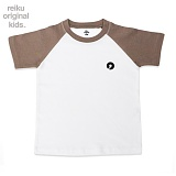 [레이쿠키즈] reiku kids symbol two tone short brown-w 배색 반팔티