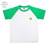 [레이쿠키즈] reiku kids symbol two tone short green-w 배색 반팔티