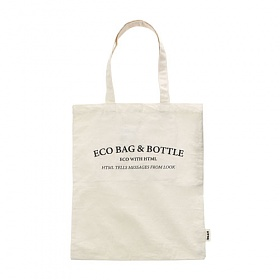 [에이치티엠엘]HTML - Eco_B Ecobag (IVORY) +BOTTLE 에코백
