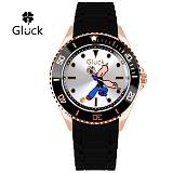 [Gluck] 글륵 행운의 뽀빠이 캐릭터 시계 GL3606-RGBK 본사정품