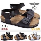 [보이런던]BOYLONDON-J431 폴스 샌달(브라운)-남녀공용 캐주얼 버켄 남자 여자 슬리퍼 조리 여름 신발