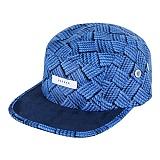 바잘 - woven print camp cap navy 캠프캡 모자