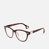 [옵틱스뮤지엄]OPTICSMUSEUM - CHROME MONTHLY GLASSES (DARK BROWN)