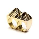 [블랙스케일]BLACKSCALE -  Pyramid 2 Finger Ring 반지
