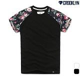 [크루클린] CROOKLYN 플라워 나그랑 반팔 티셔츠 TRS134 반팔티