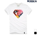 [크루클린] CROOKLYN 다이아몬드 반팔 티셔츠 TRS144 반팔티