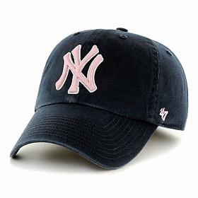 47브랜드 - MLB모자 뉴욕 양키즈 네이비핑크(한정모델) 야구모자 볼캡