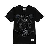 STIGMA - ROSE T-SHIRTS BLACK 반팔티 반팔 티셔츠 라운드넥