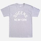 [Champion]챔피온 CREW NECK 1/2 T-SHIRT QUEENS NY (GREY) 반팔티 정품 국내배송