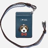 [디팍스]파란물꼬기 원하는 문구제작 강아지(6TYPE) 카드목걸이