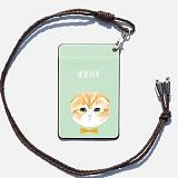 디팍스 - 파란물꼬기 문구제작 고양이(5TYPE) 카드목걸이