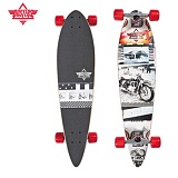 [DUSTERS] 34 GO X BLACK/WHITE X PINTAIL X LONGBOARD COMPLETE