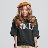 [로맨틱크라운]ROMANTIC CROWN - GOOD LIFE WIDE T-SHIRT_BLACK 반팔티