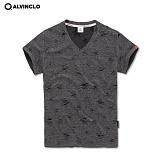 [앨빈클로]ALVINCLO  VNK-3912D 와일드 브이넥 티셔츠 남자 여자 커플룩 단체 반팔 반팔티