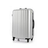 [유랑스]여행가방 201-24 수화물용 페인팅실버 하드캐리어 여행용 캐리어 24인치