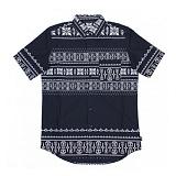 [크룩스앤캐슬]CROOKS & CASTLES Mens Woven S/S Shirt - Native 반팔 셔츠 남방 우븐셔츠