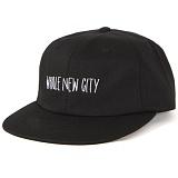 [앱놀머씽] Newcity 6Panel Cap (Black) 모자 스냅백 볼캡