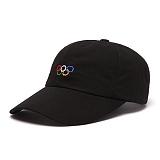 [피스메이커]PIECE MAKER - PIXEL 5 RINGS WASHED CAP (BLACK)_모자 볼캡 야구모자 오륜기 올림픽