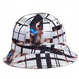 [블랙스케일]BLACK SCALE Ghost Plaid Bucket WHT 모자 벙거지 버킷햇
