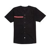 [블랙스케일]BLACK SCALE Red Line Rebel Jersey BLK 반팔 셔츠 남방