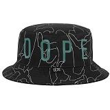 [도프]DOPE Camo Outline Bucket Hat BLK 모자 버킷햇 버켓햇 벙거지