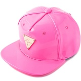 [헤이터] HATER 네온 핑크 에나맬 스냅백 PATENT LEATHER FLUORESCENT PINK SNAPBACK (PINK)