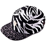 [헤이터] HATER 지브라 블랙 레오파드 캠프캡 ZEBRA WITH BLACK LEOPARD 5-PANEL CAMPCAP (BLACK)