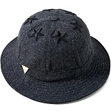 [헤이터] HATER 식스스타 멀티컬러 넵 다크그레이 버킷햇 SIX STARS WITH MULTI COLORED NEP DARK GREY BUCKET HAT (DARK GREY)