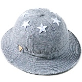 [헤이터] HATER 식스스타 멀티컬러 넵 그레이 버킷햇 SIX STARS WITH MULTI COLORED NEP GREY BUCKET HAT (GREY)