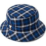 [헤이터] HATER 플란넬 플래드 블루 버킷햇 FLANNEL PLAID BLUE BUCKET HAT (BLUE)