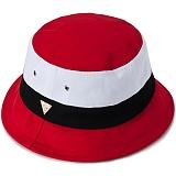 [헤이터] HATER 레드 화이트 블랙 컬러 블록 버킷햇 RED WHITE BLACK COLOR BLOCK BUCKET HAT (RED)