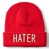[헤이터] HATER 샤이니 골드 로고 롱 비니 레드 SHINY GOLD LOGO RED BEANIE (RED)