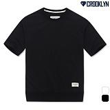 [크루클린] CROOKLYN 시보리 5부 루즈핏 티셔츠 TRS168 반팔티