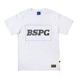 [비스폰지]beasponge - Bspg Square T - WHITE (WH) 반팔 반팔티 티셔츠