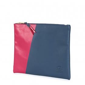 ※[허쉘]HERSCHEL - NETWORK POUCH LARGE Leather (Navy/Red) 허쉘코리아 정품 네트웍 클러치 파우치