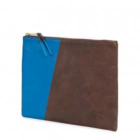 ※[허쉘]HERSCHEL - NETWORK POUCH LARGE Leather (Nubuck/Cobalt) 허쉘코리아 정품 네트웍 클러치 파우치