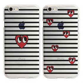 디팍스 - STRIPE HEART SOFT CASE