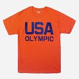 [Champion]챔피온 CREW NECK 1/2 T-SHIRT USA OLYMPIC (ORANGE) 반팔 반팔티 티셔츠 정품 국내배송
