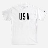 [Champion]챔피온 CREW NECK 1/2 T-SHIRT USA (WHITE) 반팔 반팔티 티셔츠 정품 국내배송