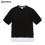 [앨빈클로]AST-3618B 메시원단의 시원한 루즈핏 티셔츠 / 남자 여자 커플룩 학생