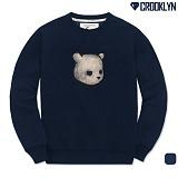 [크루클린] CROOKLYN 슬릿베어 맨투맨 티셔츠 MRL366 크루넥 스��셔츠