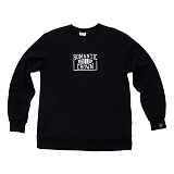 [로맨틱크라운]ROMANTIC CROWN - CHECK LIST CREW NECK_BLACK 맨투맨