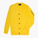 [니티드] KNITTED - Merinowool M-1 Solid Cardigan [Yellow]_가디건
