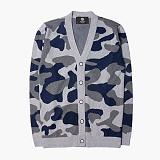 [니티드] KNITTED - Pimacotton Camouflage Cardigan [Grey]_가디건