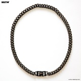 SEXTO - [Handmade]Modern Chain Necklace X3 Black 목걸이 체인목걸이
